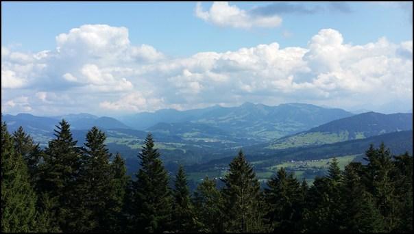 ...und die Bergseite des Pfänders