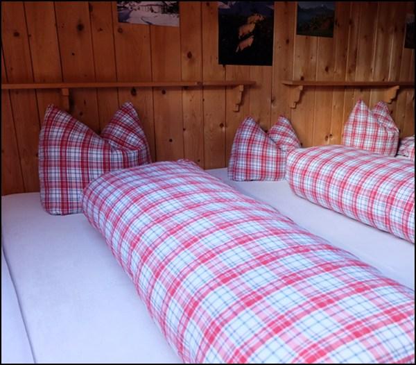 Lager in der Bergkristallhütte im Bregenzerwald