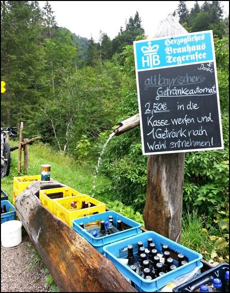 Siebenhütten Bier im Brunnen