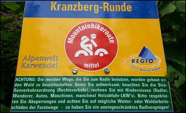kranzberg mit dem Mountainbike