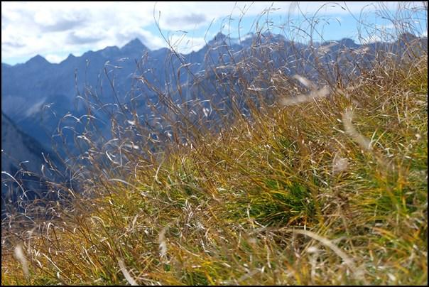 Gipfelbuch: Fleischbank (Karwendel) im Herbst