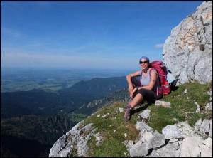 Kurz vor dem Gipfel der Ammergauer Hochplatte, Foto: Outzeit Passau