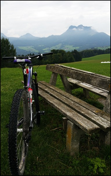 Samerberg mit dem Mountainbike