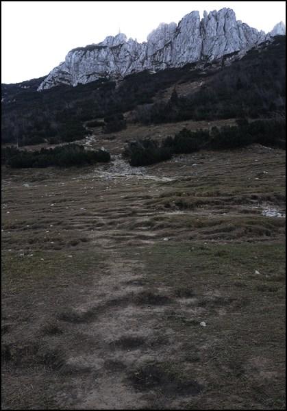 Wegsuche hinter der Steinlingalm