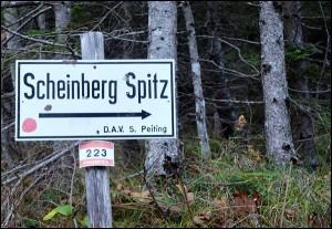 Bergtour Scheinbergspitze