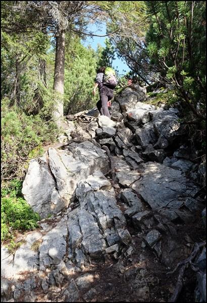 Felsiger Weg an der Scheinbergspitze