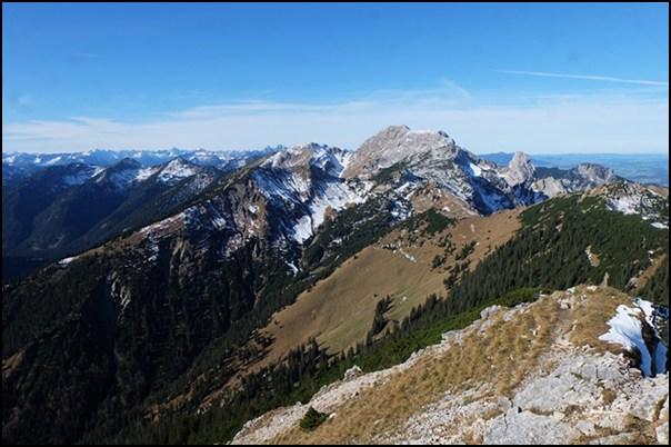 Blick von der Scheinbergspitze