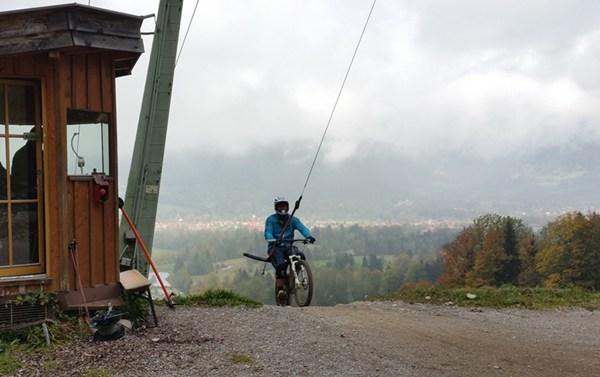 Bergstation des MTB-Schlepplifts