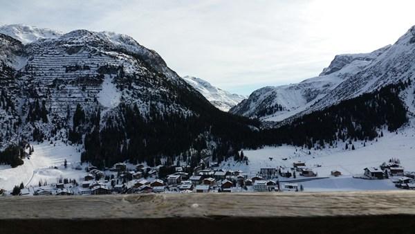 Blick von der Rud Alpe auf Lech