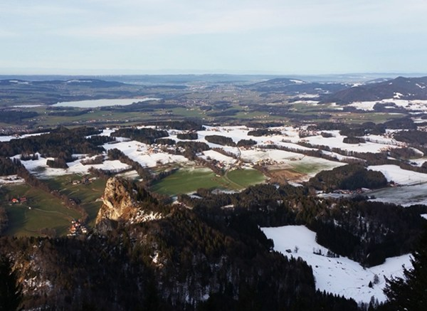 Blick nach Norden über den Flachgau