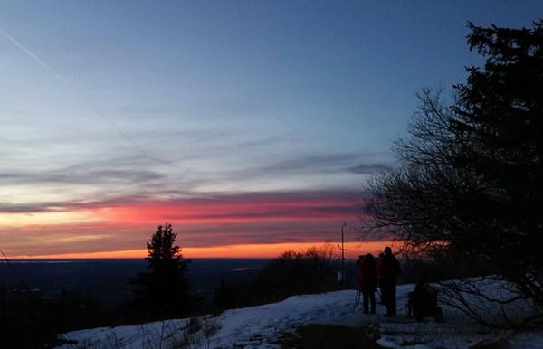 Sonnenuntergang schauen am Gaisberg