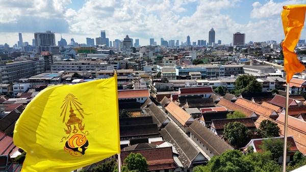 Aussicht vom Berg auf Bangkok