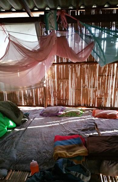 Bambushütte für Wanderer