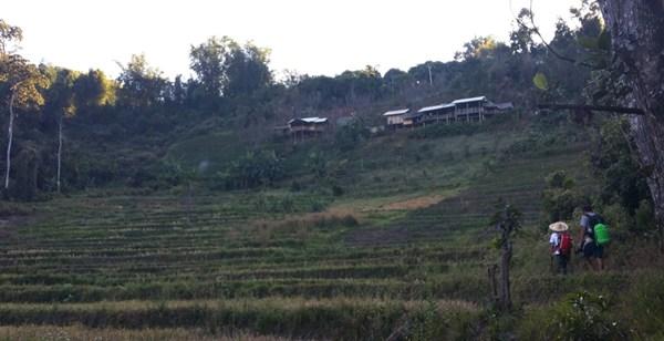Hütte in Sicht - oben am Berg