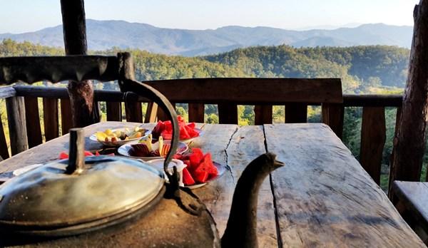 Ein perfekter Frühstücksplatz in Thailand