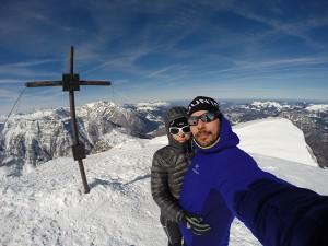Am Gipfel Großer Wieselstein 2315m im Tennengebirge