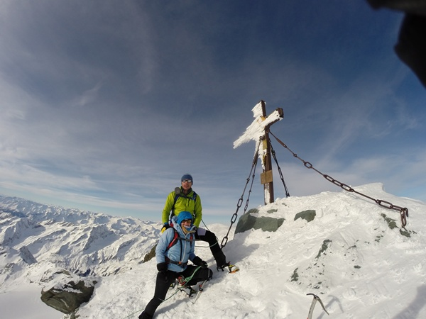 Am Gipfel des Großglockner