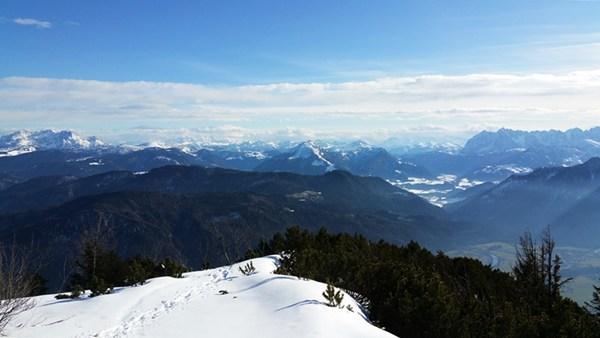 Blick nach Süden von der Chiemgauer Hochplatte