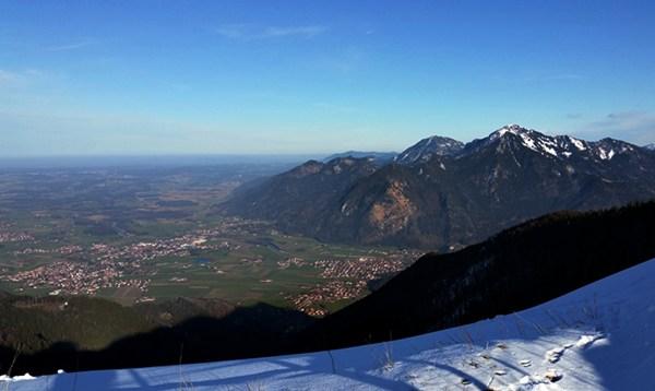 Blick auf Marquartstein und Grassau