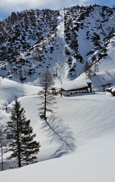 Blick zur Mitterkaseralm/ Berchtesgadener Alpen