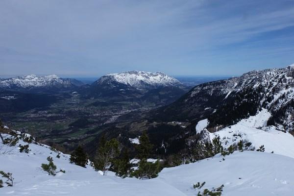 Aussicht vom Jenner auf Berchtesgaden und den Hochstaufen