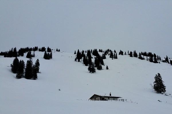 Haaralmschneid, vor dem Schneesturm