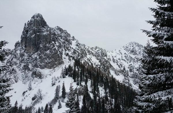 Ein Lieblingsmotiv diesen Winter, die Hörndlwand