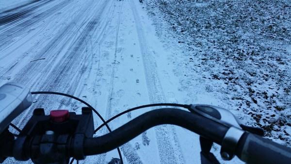 Biketowork auch bei Schnee!