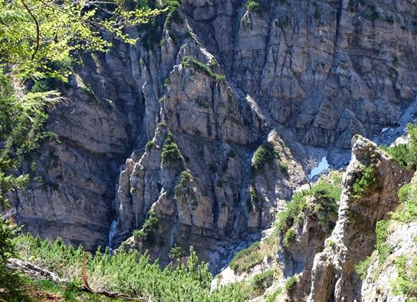 Der Canyon am Fuße des Dürrnbachhorns