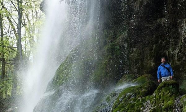 Mit Manuel Andrack am Wasserfall