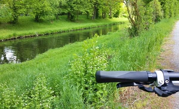 Der Waldnaab Radweg zwischen Weiden und