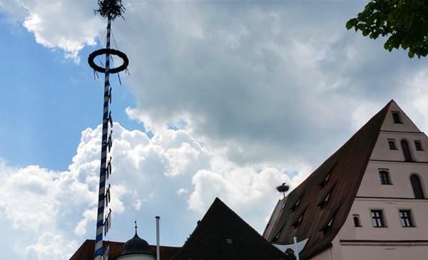 Zentrum von Neustadt an der Waldnaab - mit Storch