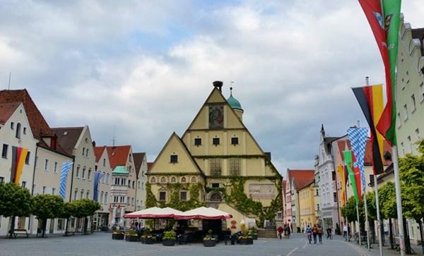 Innenstadt von Weiden in der Oberpfalz