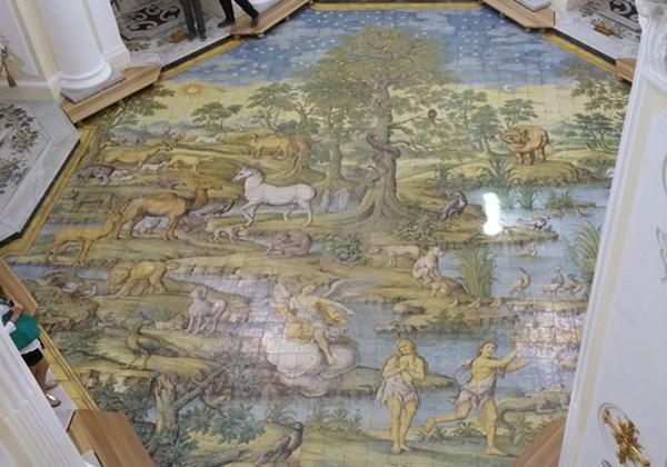 Fliesenboden der Kirche San Michele Archangelo in Anacapri