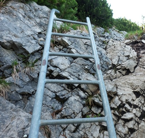 Leiter auf dem Weg zu Gamsknogel