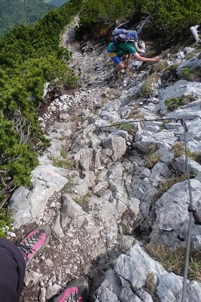 Bergab klettern Richtung Zwiesel