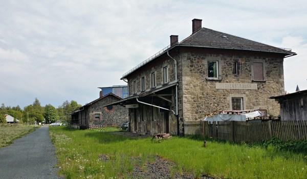 Bocklradweg am alten Bahnhof von Vohenstrauß