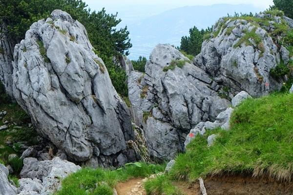 Felsen bei der Überschreitung der Benediktenwand