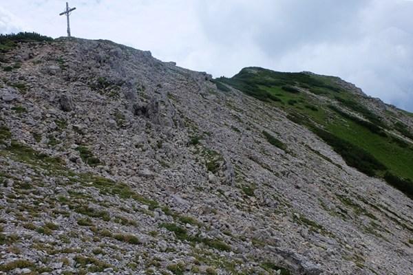 Gipfelkreuz der Rohnenspitze