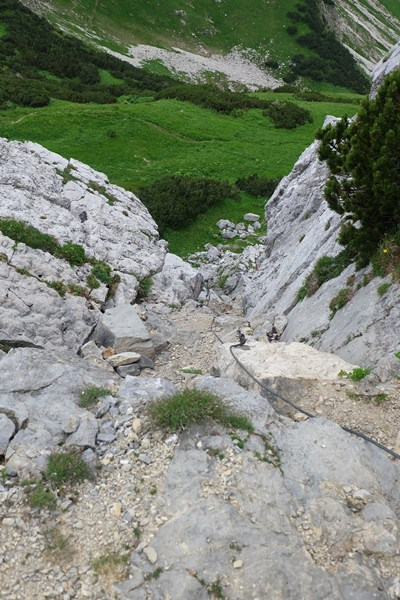 Steile Wege in den Tannheimer Bergen...