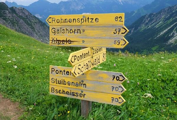 Gipfel sammeln in den Tannheimer Bergen