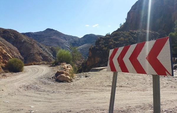 Am Parkplatz beginnt unsere Wanderung durch die Ramblas de los Yesos.