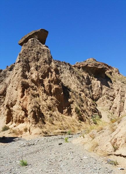 Erosions-Gebilde in Andalusien
