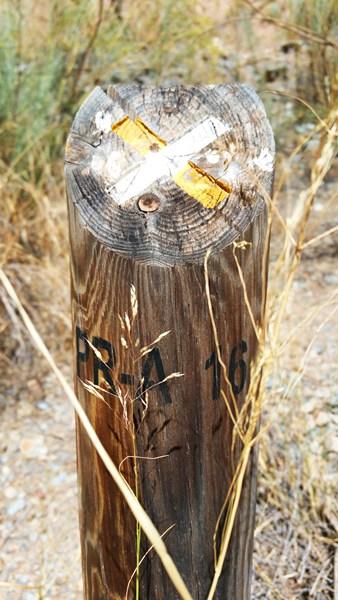 """""""Obacht, falsche Richtung"""" sagt dieser Pfahl."""