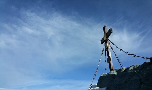 Das Gipfelkreuz auf dem Großglockner