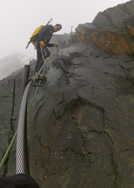 Nasser Klettersteig zwischen Stüdlhütte und Adlersruhe