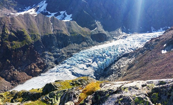 Gletscherblick von der Rauhekopfhütte aus