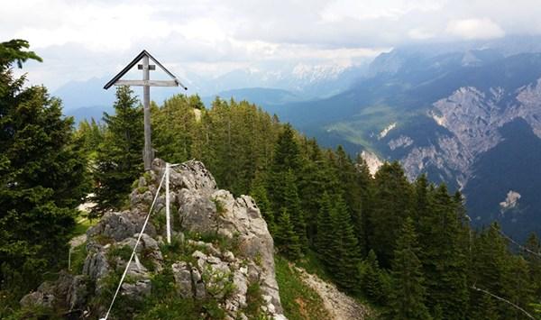 Der Gipfel des kleinen Kreuzjochs