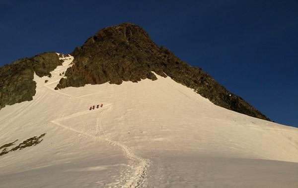 Aufstieg zum Großglockner - hier braucht man Steigeisen (Tourenbericht folgt in Kürze)