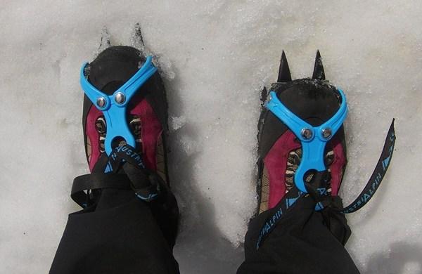 Steigeisen auf dem Gletscher